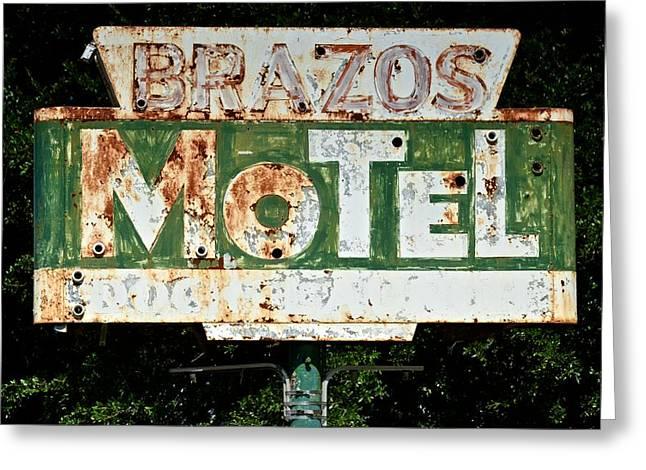 Brazos Motel Greeting Card by Ricardo J Ruiz de Porras