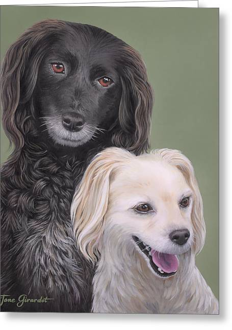 Greeting Card featuring the painting Brea And Randy by Jane Girardot