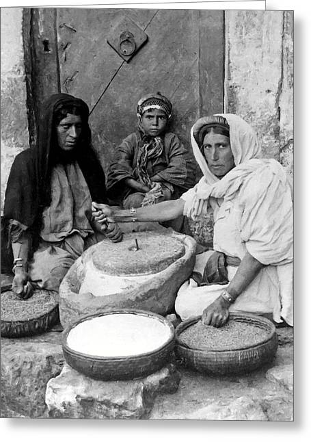 Bread Making Greeting Card by Munir Alawi