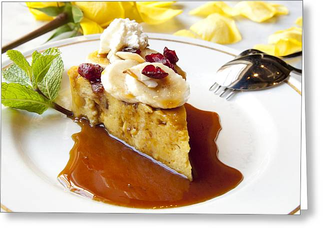 Bread Pudding Greeting Card