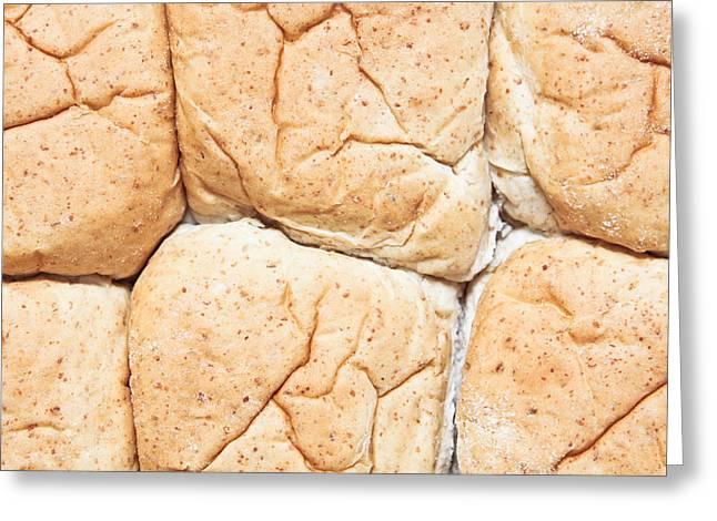 Bread Rolls Greeting Card by Tom Gowanlock