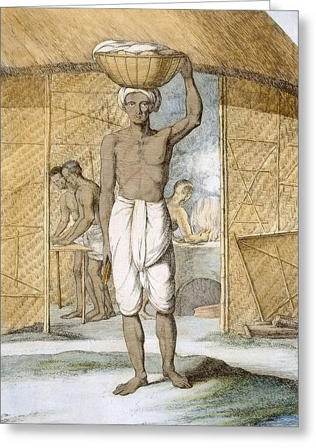 Breadmaker, From The Hindus, Or Greeting Card by Franz Balthazar Solvyns