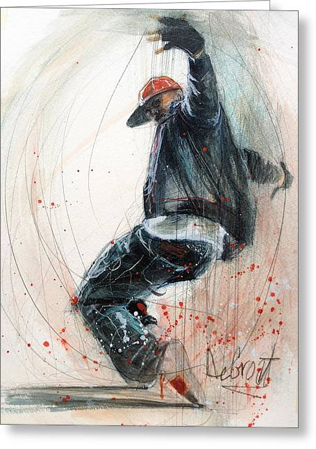 Break Dancer2 Greeting Card