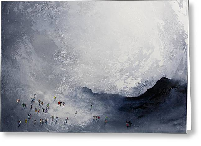 Break In The Weather Original Painting By Neil Mcbride Greeting Card by Neil McBride