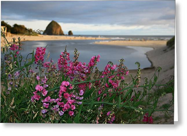 Breakers Point Oregon Greeting Card