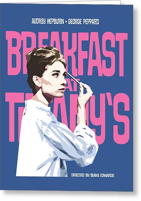 Breakfast At Tiffany's Greeting Card by Douglas Simonson