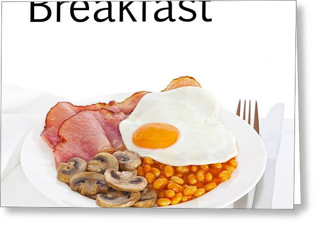 Breakfast Concept Greeting Card by Colin and Linda McKie