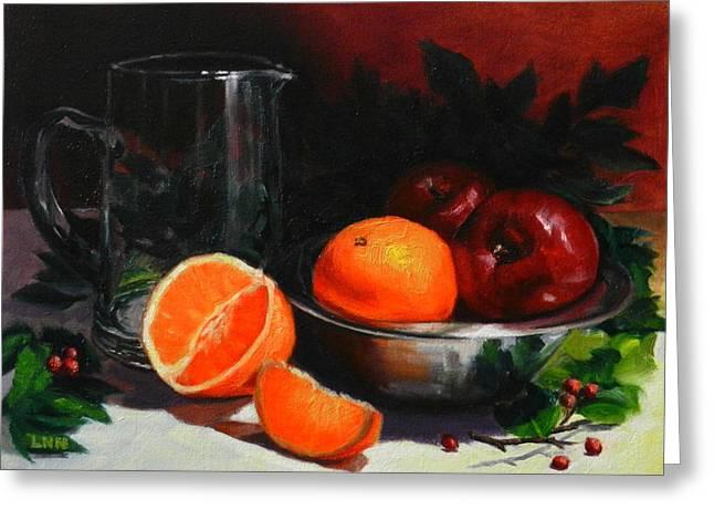 Breakfast Fruits Greeting Card