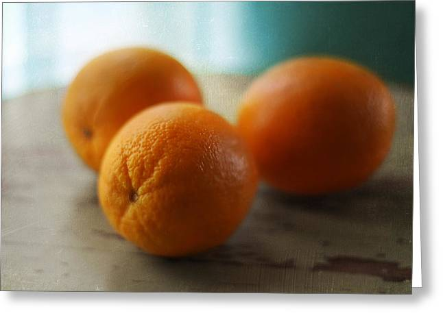 Breakfast Oranges Greeting Card by Amy Tyler