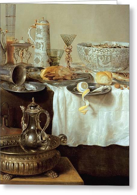 Breakfast Still Life Greeting Card by Willem Claesz Heda
