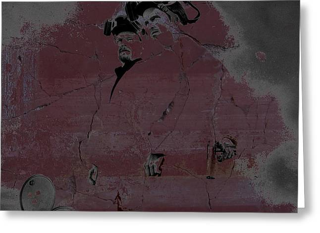 Greeting Card featuring the digital art Breaking Bad Concrete Wall by Brian Reaves