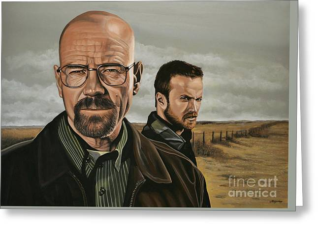 Breaking Bad Greeting Card by Paul Meijering