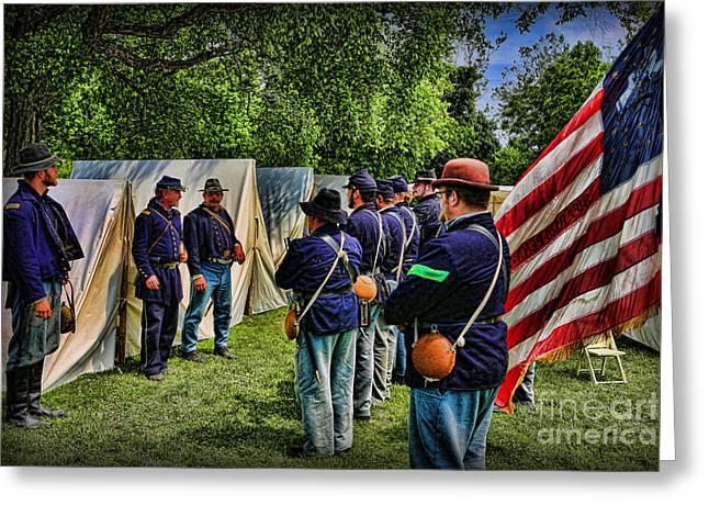 Breaking Camp - Civil War Greeting Card
