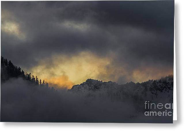 Breaking Storm Greeting Card by Mitch Shindelbower