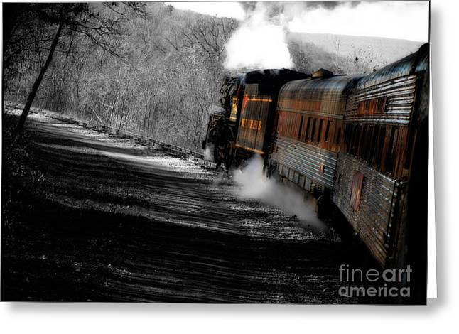 Breaking The Time Barrier  Greeting Card by Steven Digman