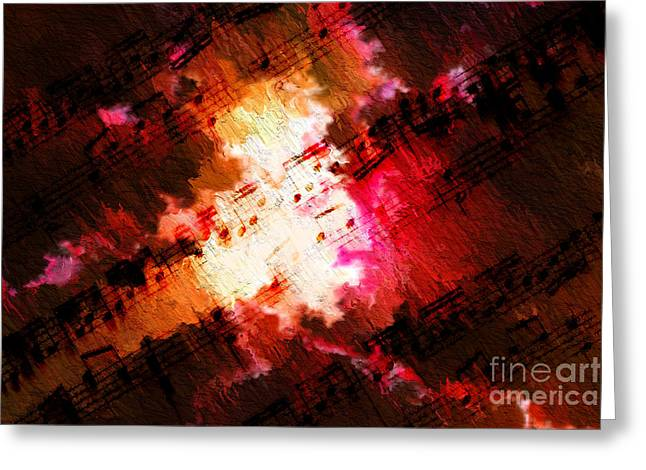 Greeting Card featuring the digital art Breaking Through by Lon Chaffin
