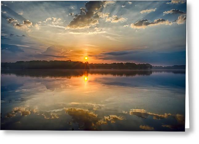 Breaking Through The Clouds Greeting Card by Dan Holland