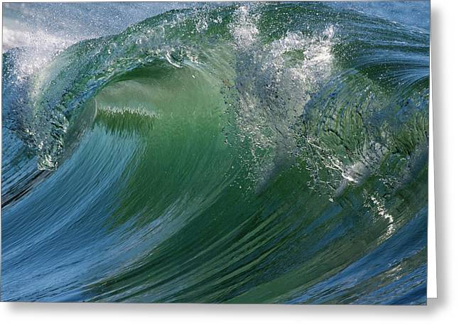 Breaking Wave Greeting Card by Ken Archer