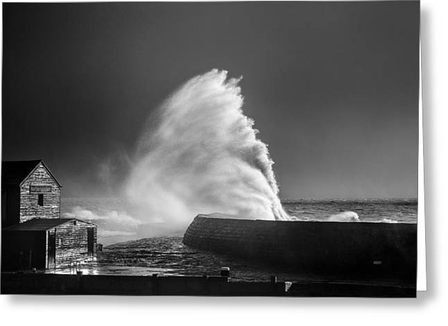 Breaking Wave Greeting Card by Tim Booth