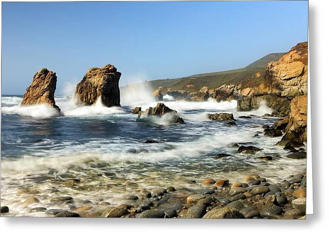 Breaking Waves Garrapata State Park Greeting Card