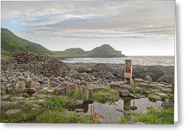 Breaking Waves -- Giant's Causeway -- Ireland Greeting Card by Betsy Knapp