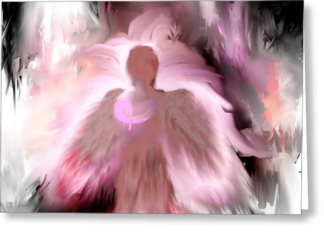 Breast Cancer Angel Greeting Card by Jessica Wright