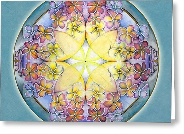 Breath Of Life Mandala Greeting Card by Jo Thomas Blaine