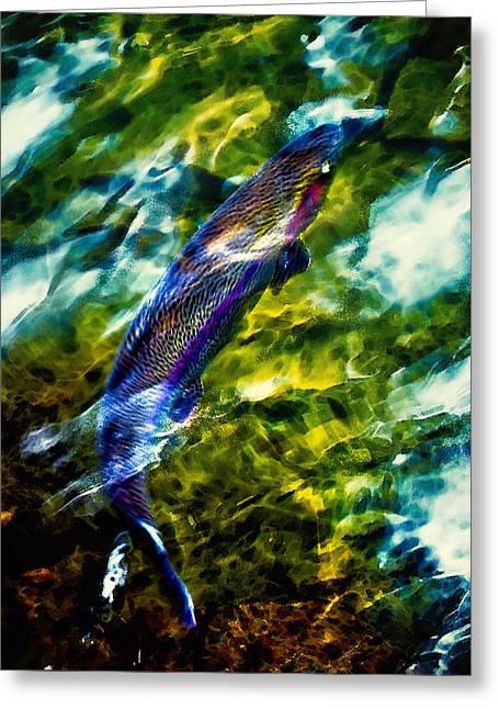 Breathing Water Greeting Card by Belinda Greb