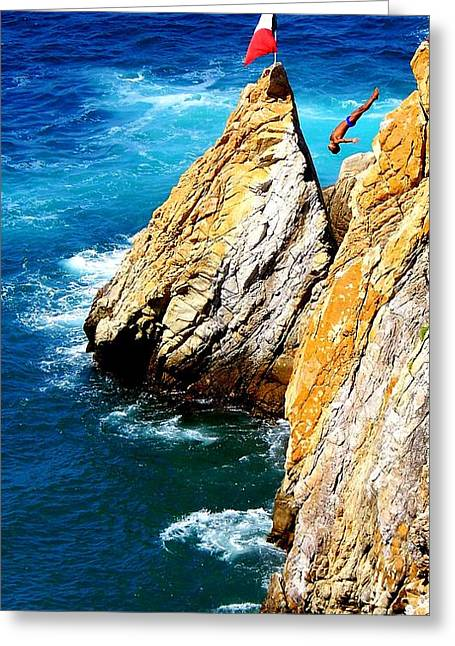 Breathtaking Free Fall Greeting Card by Karen Wiles