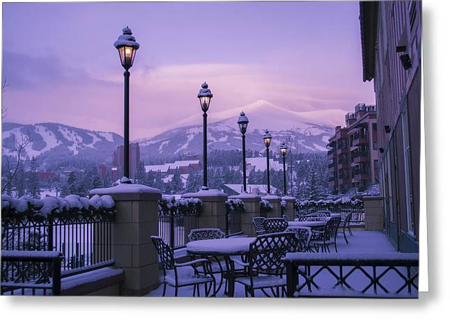 Breckenridge Village Greeting Card by Michael J Bauer