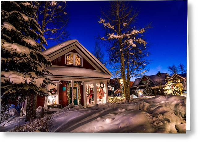 Breckenridge Winter Wonderland Greeting Card by Michael J Bauer