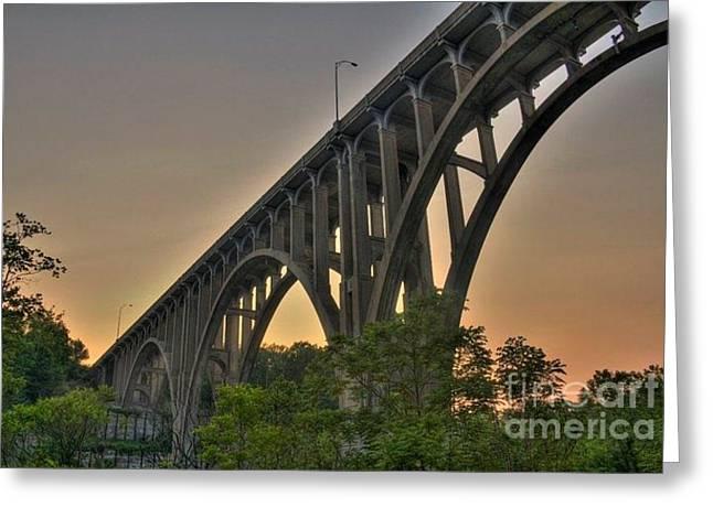 Brecksville Arched Bridge Greeting Card