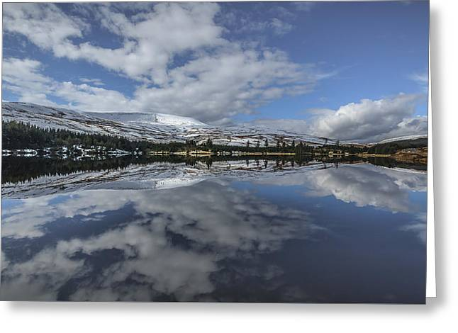 Brecon Reflection Greeting Card by Chris Fletcher
