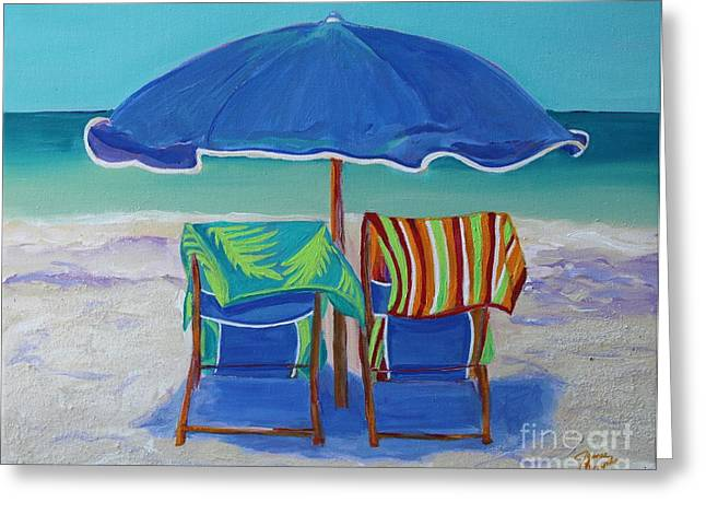 Breezy Beach Day Greeting Card