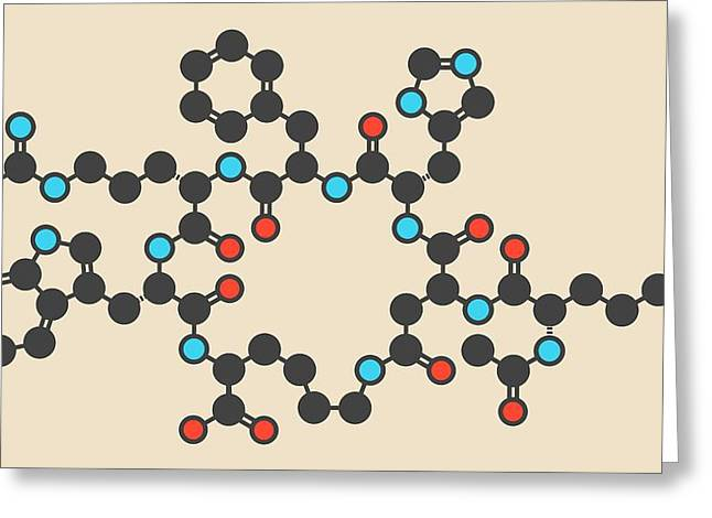 Bremelanotide Molecule Greeting Card by Molekuul