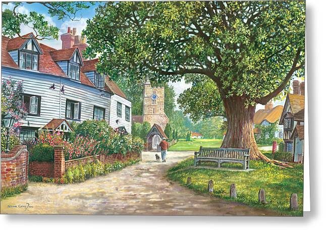 Brenchley Village Greeting Card by Steve Crisp