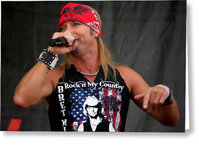 Bret Michaels In Philly Greeting Card by Alice Gipson