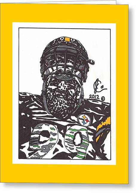 Brett Keisel 2 Greeting Card by Jeremiah Colley