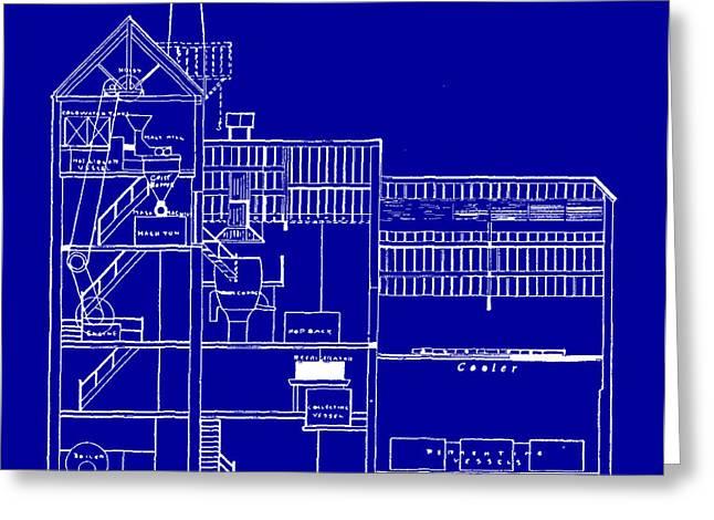 Brewery Blueprint Greeting Card