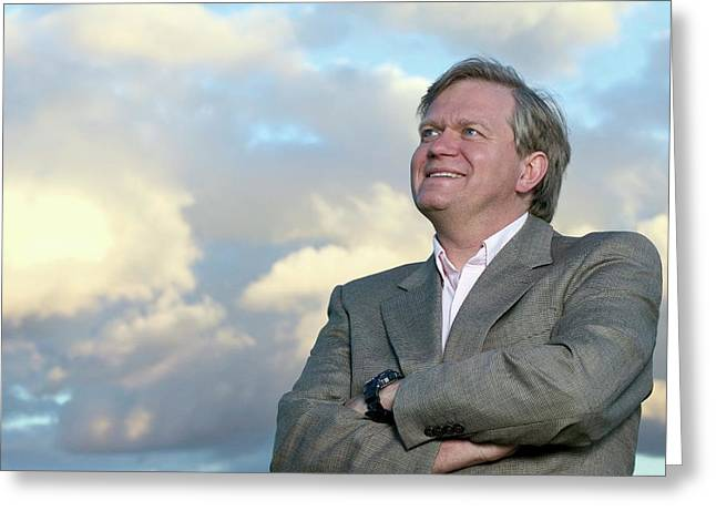 Brian Schmidt Greeting Card by Emilio Segre Visual Archives/american Institute Of Physics