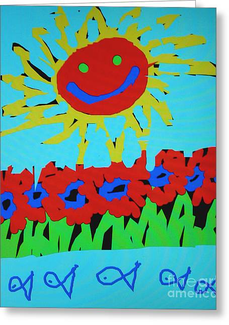Brians Art Greeting Card by Douglas Stucky