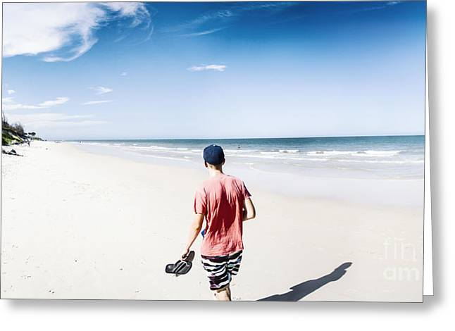 Bribe Island Beach Tourist Greeting Card by Jorgo Photography - Wall Art Gallery