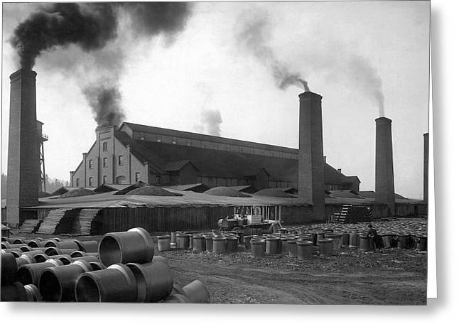 Brick And Lime Company Factory Greeting Card