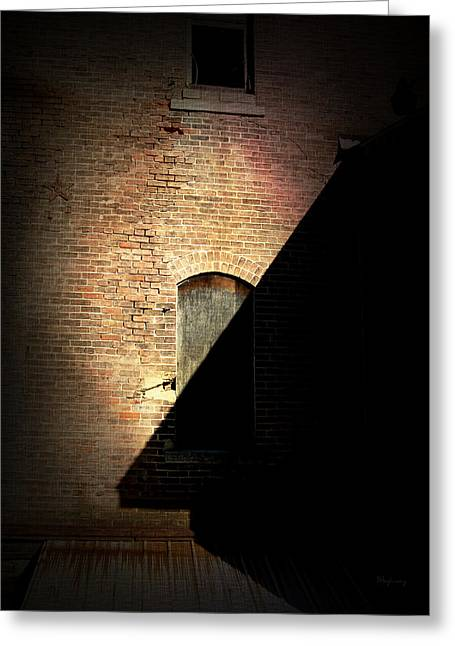 Brick And Shadow Greeting Card