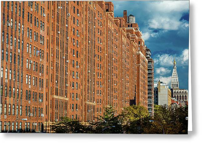 Brick Apartment Buildings New York City Greeting Card