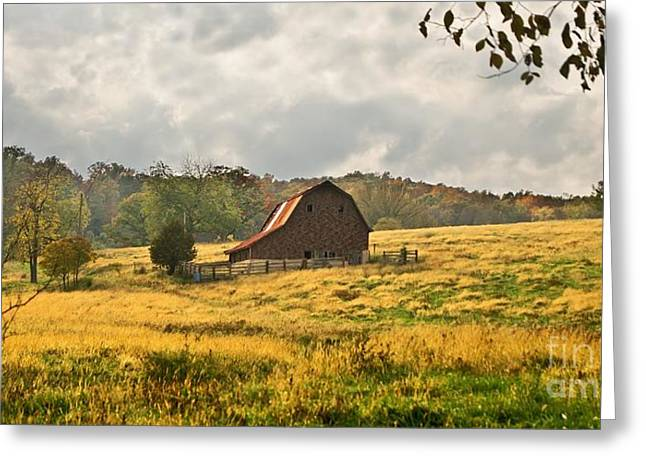 Brick Barn Beauty Greeting Card