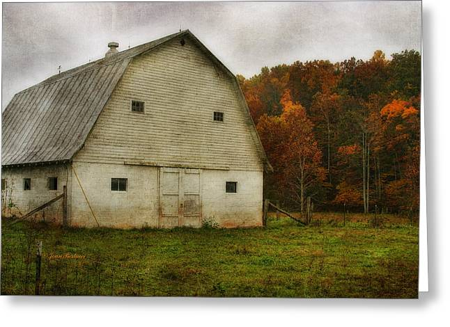 Greeting Card featuring the photograph Brick Barn by Joan Bertucci