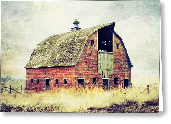 Brick Barn  Greeting Card
