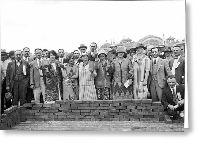 Brick Ceremony At Ppie Greeting Card