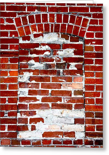 Brick In The Wall Greeting Card